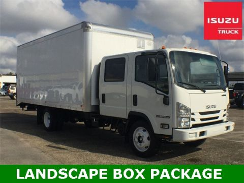 New 2018 Isuzu NPR GAS HD CREW CAB LANDSCAPE BOX PACKAGE Cab & Chassis Trucks